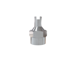 LB/CAP LARGE BORE HEXAGONAL VALVE CAP WITH SCREWDRIVER TOP FOR EM
