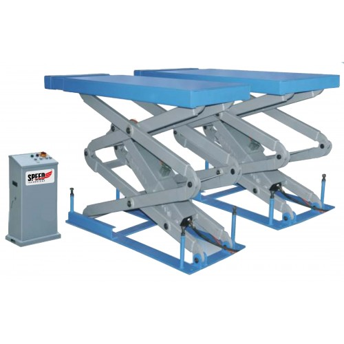 SCISSOR LIFT INGROUND 230V/1PH/50HZ BLUE