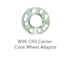 WHEEL SPACER WITH BUILT-IN CENTER CONE