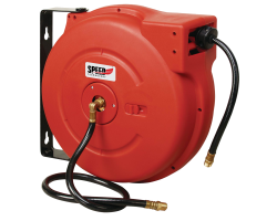 AIR/WATER HOSE REEL LOW PRESSURE WITH 15M HOSE (RED) - ENCLOSED